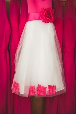 flower girl dress hanging