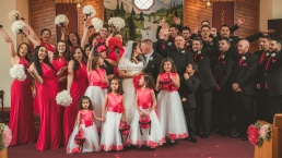 24 people in a wedding party