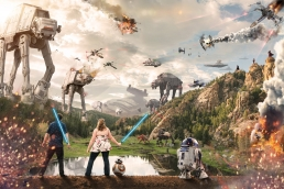 star wars battel composite in the mountains