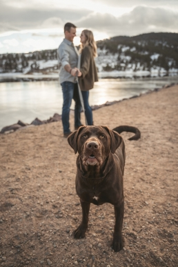 engagement at pinewodd reservoir in loveland colorado